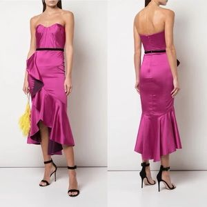 NWT Marchessa Notte Draped Ruffle Cocktail Dress